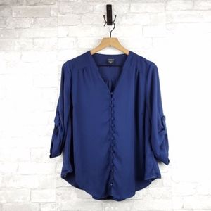 Torrid Button Detail 3/4 Sleeve Blouse | Size 00X